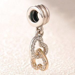Pandora Interlocking Hearts Dangle Charm